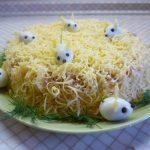 Фото 123: Украшение салата к Году Крысы
