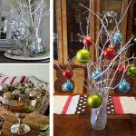 Фото 55: Зимние украшения из елочных шаров