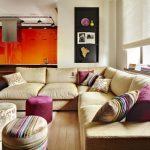 Фото 39: Гостиная с угловым диваном