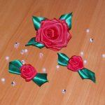 Фото 48: Заколки роза