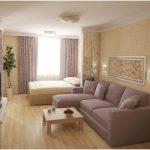 Фото 41: Интерьер зала в однокомнатной квартире