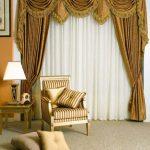 Фото 48: Классические шторы драпировка