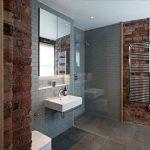 Фото 43: Клинкер ванная с плиткой