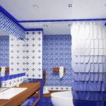 Фото 54: Майолика плитка синяя