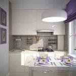 Фото 64: Маленькая светлая кухня