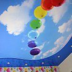 Фото 53: Натяжной потолок в детской комнате
