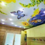 Фото 54: Натяжной потолок в детской