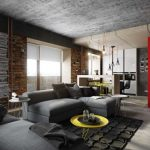 Фото 59: Натяжной потолок в стиле буртализм