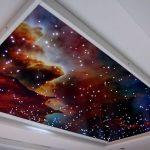 Фото 43: Натяжной потолок со звёздами идеи