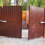 Фото 44: Распашные ворота