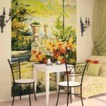 Фото 6: Фотообои фрески на кухне