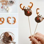 Фото 16: Олени из маршмеллоу, шоколада и печенья
