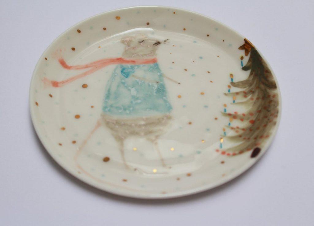 Тарелка с рисунком мышки