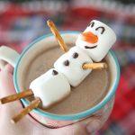 Фото 14: Снеговик из зефира для какао