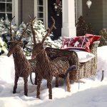 Фото 41: Новогодняя плетеная композиция