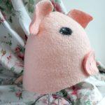 Фото 26: Шапочка свинка в баню