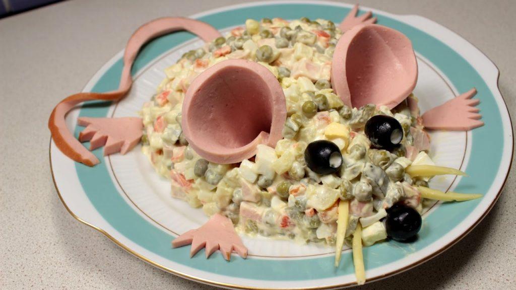 Декор салат к Году Крысы