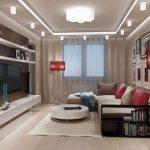 Фото 26: Дизайн гостиной 17 кв.м.