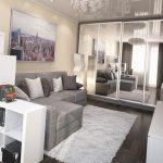 Фото 20: Дизайн проект 1 комнатной квартиры