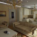 Фото 31: Классическая гостиная в доме