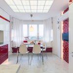 Фото 31: Кухня красная
