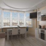Фото 41: Кухня с эркером
