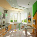 Фото 47: Кухня яркая