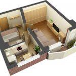 Фото 59: Планировка однокомнатной квартиры