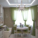 Фото 59: Салатовая кухня