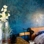 Фото 75: Текстурная синяя краска