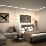 Фото 16: Дизайн комнаты со спальней