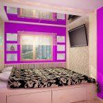 Фото 9: Дизайн узкой и маленькой спальни