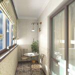 Фото 39: Интерьер балкона фото