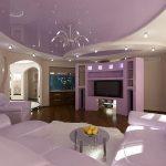 Фото 29: Красивый потолок из гипсокартона