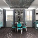 Фото 64: Кухня со шторами
