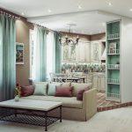 Фото 37: Мятный цвет в гостиной