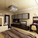 Фото 42: Спальня гостиная