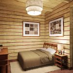 Фото 75: Спальня из бруса