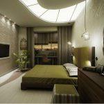 Фото 52: Спальня узкая
