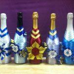Фото 12: Декор бутылки шампанского