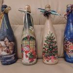 Фото 3: Декупаж бутылок