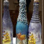 Фото 4: Декупаж новогодней бутылки