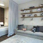 Фото 23: Интерьер комнаты со спальней