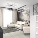 Фото 28: Интерьер маленькой комнаты