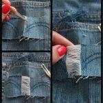 Фото 20: Как самой сделать джинсы