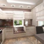 Фото 19: Планировка дизайна кухни