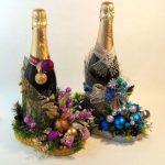 Фото 50: Украшение бутылок на новый год