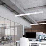 Фото 66: Подвесные светодиодные лампы в офисе