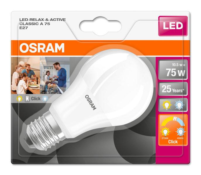8. Osram Led Star Classic A 75 9W/840 FR E27 4000К